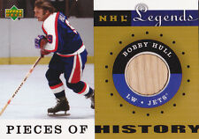 01-02 Upper Deck Legends Bobby Hull Stick Pieces Of History Jets 2001