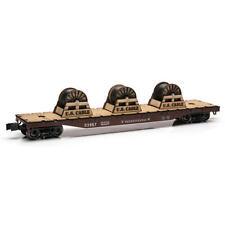 Railroad Train O Gauge Pennsylvania Flatcar 14 3/4 inch with Wire Spools