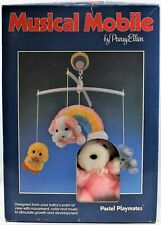Pansy Ellen Animal & Rainbow Musical Mobile 1987 Vintage Open Box Free Shipping