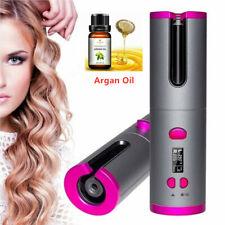Wireless Hair Curlers Hair Waver Curling Iron LCD Auto-rotating + Argan Oil