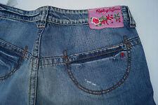 REPLAY Kinder Mädchen Damen Hüft Jeans Hose schlag Gr.14 stone wash blau TOP #h