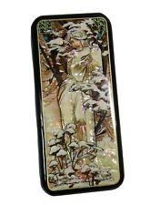 Russian Lacquer Box painted over Mother of Pearl Art Nouveau - Winter Mood #4129