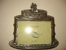 Photograph Frame Kenrich Metal Works Bride and Groom Pewter Tone