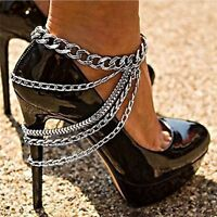 Multi-layer Foot Chain Anklets High Heel Shoe Foot Ankle Beach Foot Jewelry Top