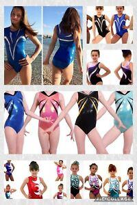 Size 34-36 Age 13-15 ASM-AME Girls Gymnastics leotard Closeout/Bargain £10-£18