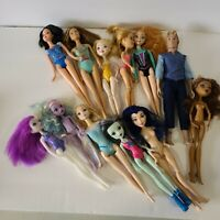 Lot of 12 Assorted Monster High and Prince & Princess Dolls
