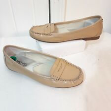 Michael Kors Woman's Nude Penny Loafer Moccasin Flats 8 M Patent Leather Shoes
