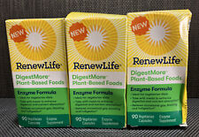 3x Renew Life Adult Digestive Enzyme DigestMore Plant-Based Foods Enzyme Formula