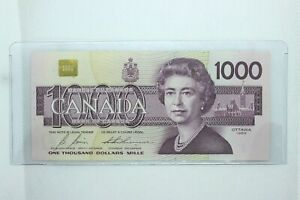 1988 Canadian 1000 Dollar Bill - Uncirculated Condition