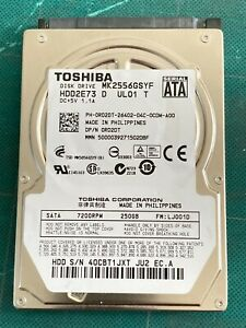 "Toshiba 250Gb 2.5"" Laptop Sata HDD Hard Disk Drive MK2555GSXF HDD2E73"