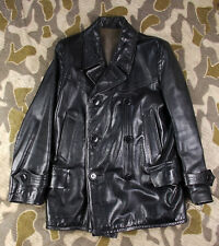 WW2 VINTAGE GERMAN KRIEGSMARINE U-BOAT LEATHER JACKET - EXC!