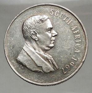 1967 SOUTH AFRICA Dr. Hendrik  Frensch Verwoerd Silver 1 Rand Coin i57064