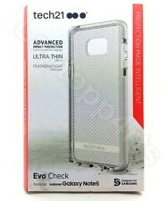Genuine Tech21 Evo Check Ultra Thin Clear Case For Samsung Galaxy Note 5 White