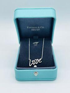 Tiffany & Co Paloma's Graffiti Love White Gold Diamond Necklace