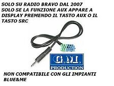MP3 AUX iPod Iphone galaxy S2 S3 ingresso SOLO AUDIO FIAT BRAVO VISTEON 2007->
