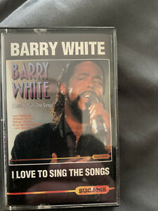 Barry White I Love To Sing The Songs Cassette