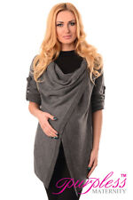 Purpless Maternity Pregnancy Nursing Sweater Cardigan Size 8 10 12 14 16 18 9005 Dark Gray 16/18