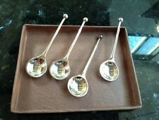 BOMBAY DUCK - Set of 4 Demi tasse teaspoons in silk tissue envelope cutlery