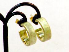 Ohrringe Kreolen Creolen Silber 925 vergoldet rhodiniert um 1980