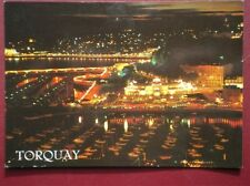 POSTCARD DEVON TORQUAY HARBOUR AT NIGHT FROM VANE HILL