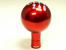 FORD MUSTANG 6 SPEED MANUAL THREADED ROUND BALL SHIFT KNOB & BOOT RETAINER RED