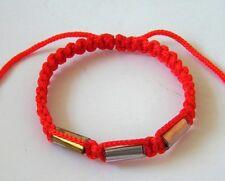 Authentic Thai Blessed Buddhist Wristband Fair Trade Wristwear Red 3 Takrut