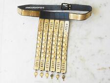 Roman Handmade Black Leather Apron Belt Brass Fittings Wearable