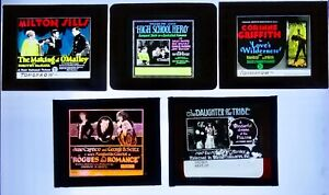 Five Mixed -  Glass Movie Slides