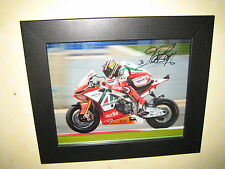Max Biaggi Signed Photo (8x10) Framed