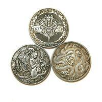 USA EXONUMIA SILVERED COIN HOBO TOKEN NICKELS SOUVENIR DOLLAR 1904