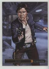 2015 Topps Star Wars Illustrated: The Empire Strikes Back #3 Han Solo Card e0y