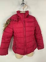GIRLS ZARA PINK CASUAL WINTER PADDED HOODED RAIN COAT JACKET KIDS AGE 5/6 YEARS