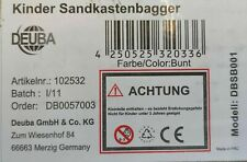 Deuba Sandbagger Sitzbagger 125 x 65 x 60 cm Kippschaufel 360°