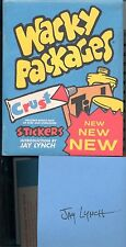 Artist Jay Lynch Autographed Signed Wacky Packages Book with Bonus Stickers COOL