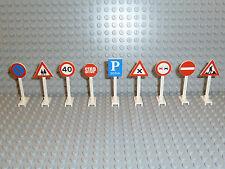 LEGO® City/Stadt/Town Zubehör 9x Straßenschilder Verkehr Zeichen 649 14 K204