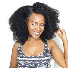 7A Afro Kinky bouclés Remy Cheveux humains tissage 3 trames Afro Cheveux bouclés