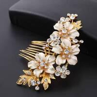 Bridal Handmade Hair Combs Crystal Hairpin Prom Jewelry Flower Headpiece Wedding