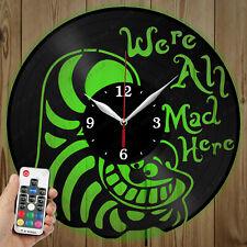 LED Vinyl Clock Cheshire Cat LED Wall Art Decor Clock Original Gift 4320