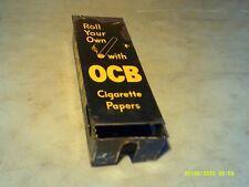 Vintage OCB  Cigarette Rolling Paper Dispenser Metal Store Advertising