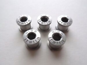 *Rare NOS Vintage 1970s/80s ALES (Campagnolo fit) aluminium chainring bolts set*