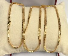 """18k Solid Yellow Gold Unisex Snake Chain/Necklace Dimond Cut. 24"""". 7.49 Grams"""