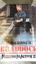 MISSING IN ACTION 3 Movie Poster with  Chuck Norris is BRADDOCK 1988