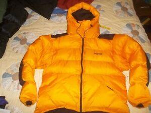 Marmot Parbat Gore-tex DryLoft Himalayan Belay Parka Jacket Goose Down Coat Gold