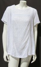 $59 LUCKY BRAND White Semi Sheer Stretch Vine Lace Blouse Shirt Top size 2X