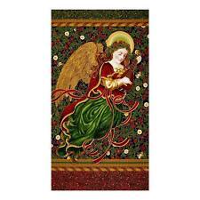 """24"""" Fabric Panel - Robert Kaufman Holiday Flourish Christmas Angel Royal Blue"""