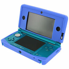 ZedLabz Soft GEL Silicone Cover Case for Nintendo 3ds Protective Bumper - Blue