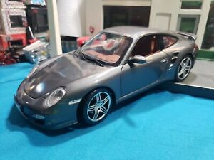 Norev Porsche 911 Turbo - Metallic GRAY 1:18 Diecast Model !RARE! BEAUTIFUL CAR