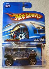 """MF DK BLUE / """"H2"""" Tampo in White - 2006 HOT WHEELS First Editions HUMMER #23"""
