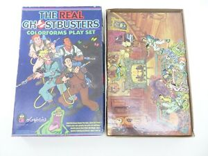 Vintage 1986 The Real Ghostbusters Colorforms Play Set - USED