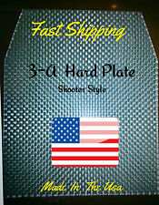 """Pair Level 3-A / III-A 10""""x12"""" Bullet proof Vest or Backpack plate Shooter Style"""